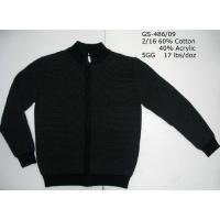Buy cheap Men's Cotton/Acrylic Knitted Cardigan from wholesalers