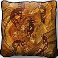 Buy cheap SALE Kokopelli the Ancient Ones Tapestry Throw Pillow from wholesalers