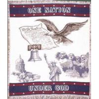 Buy cheap One Nation Under God Throw Blanket from wholesalers