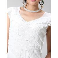 China A ruffled white short-sleeved blouse NO.1105-383 RMB:119.00 on sale