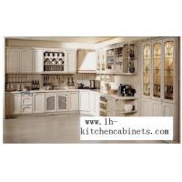 Buy cheap Solid wood kitchen cabinet LH-SW046 from wholesalers