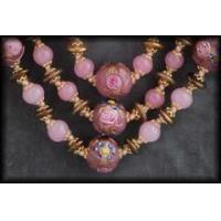 Buy cheap Antique Fiorato Wedding Cake Bead Necklaces: Pink Rose from wholesalers