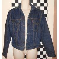 Buy cheap VINTAGE 1950′S LEVIS BIG E DENIM JACKET SIZE 38 SMALL DARK INDIGO BLUE from wholesalers