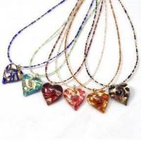 Buy cheap Murano Glass Jewelry Heart Necklace from wholesalers