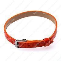 Buy cheap 8mm DIY P.leather bracelet,fits for 8mm slide charms,orange from wholesalers
