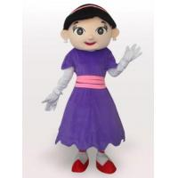 China Purple Cow Girl Short Plush Adult Mascot Costume on sale