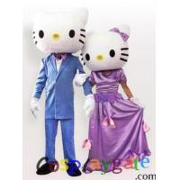 Buy cheap Hello Kitty Couple in Wedding Gown Adult Mascot Costume from wholesalers