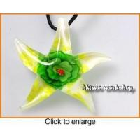 Buy cheap Murano Glass White Yellow Green Seastar Pendant from wholesalers