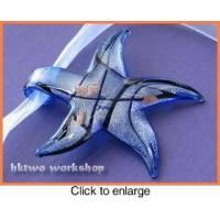 Buy cheap Murano Glass Blue Black Gold Seastar Pendant from wholesalers
