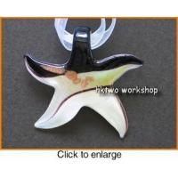 Buy cheap Murano Glass Black White Gold Seastar Pendant from wholesalers