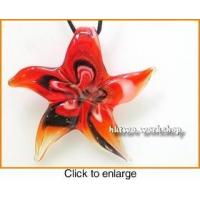 Buy cheap Murano Glass Black Red White Seastar Pendant from wholesalers