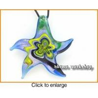 Buy cheap Murano Glass Black Silver Skyblue Yellow Seastar Pendant from wholesalers