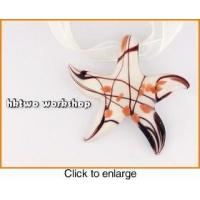 Buy cheap Murano Glass White Black Gold Seastar Pendant from wholesalers