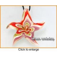 Buy cheap Murano Glass Red Purple Gold White Seastar Pendant from wholesalers