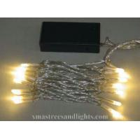 Buy cheap 20L Warm White LED Battery Operated Light With Transparent Cable from wholesalers