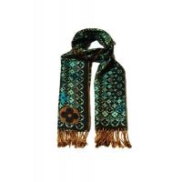 Buy cheap Pashmina Scarf Blue & Black Designer Pattern from wholesalers