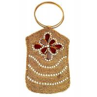 Buy cheap Gold Beaded Cell Phone Case w Festive Glass Beads & CrystalsSKU: SGDBG from wholesalers