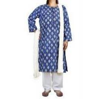 Buy cheap Women's Salwar Kameez Blue Kameez White Salwar Dupatta Indian Fashion for Women from wholesalers