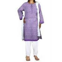Buy cheap Women's Salwar Kameez Purple Kameez White Salwar Dupatta Indian Dress for Women from wholesalers