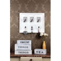 Buy cheap Wooden Wall Decoration wooden white distressed frame and hooks product