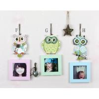 Buy cheap Baby & Kids Home Decor wood owl hanging photo frame from wholesalers