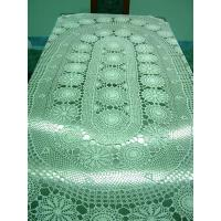 Buy cheap Handmade Crochet Tablecloth 100 x 67 Oval Cream White from wholesalers