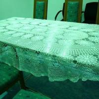 Buy cheap Handmade Crochet Tablecloth 110 x 67 Oval Cream White from wholesalers