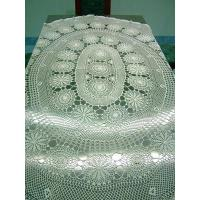 Buy cheap Handmade Crochet Tablecloth 87 x 67 Oval Cream White from wholesalers