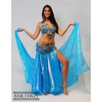 Buy cheap Turquoise Designer Belly Dance Costume by Basil Fawzy from wholesalers