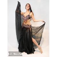 Buy cheap Black Designer Belly Dance Costume by Basil Fawzy from wholesalers