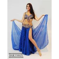 Buy cheap Royal Blue Designer Belly Dance Costume by Basil Fawzy from wholesalers