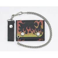 Buy cheap Biker Trifold Chain Wallet w/Flames from wholesalers