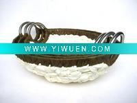 Buy cheap Artificial Crafts(970) Oval Shape Handmade Paper storage Basket from wholesalers