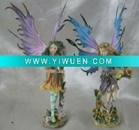 Buy cheap Artificial Crafts(970) polyresin garden fairy with metal wing oem available from wholesalers