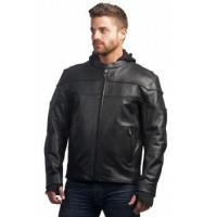 Buy cheap Mens' Hooded Leather Jacket from wholesalers