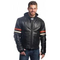 Buy cheap Leather Hoodie Jacket Scooter Style from wholesalers