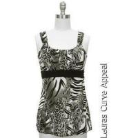 Buy cheap Womens Size MEDIUM 8/10 Gray Black White Tiger Tank Top Blouse Jon Anna New York from wholesalers