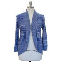 Buy cheap Womens Plus Size 1X Clothing Marled Textured Cardigan Sweater Blue New from wholesalers