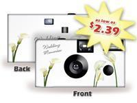 Buy cheap Wedding Memories Calla Lilies Disposable Camera SPECIAL PURCHASE - Item #SP50407 from wholesalers