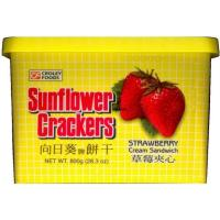 Buy cheap SUNFLOWER CRACKERS STRAWBERRY CREAM SANDWICH from wholesalers