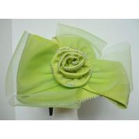 Buy cheap Formal Hats For Women in Lime Green with net flowers and beads H1091 from wholesalers