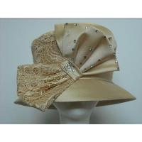 Buy cheap Formal Hats For Women in Champagne with bow H1014 from wholesalers