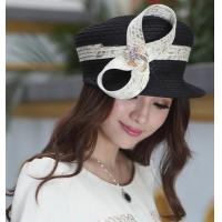 Buy cheap Designer women fabric twist hat with diamond casings brooch and Free Shipping from wholesalers