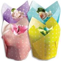 Buy cheap Large Tulip Cupcake Liners - Polka Dot Color Combo Pack (500 / case) from wholesalers