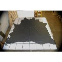 Buy cheap VERY DARK BLUE UPHOLSTERY COW HIDE LEATHER SKIN e56 from wholesalers