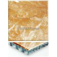 Buy cheap Yellow Onyx Marble Honycomb Composite Tiles from wholesalers