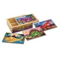 Buy cheap Melissa & Doug Deluxe Dinosaur in a Box Jigsaw Puzzles product