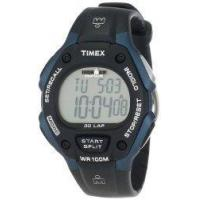 Buy cheap Timex Men's T5H591 Ironman Traditional 30-Lap Black/Blue Resin Strap Watch product