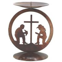 Buy cheap Rustic Candle Hold./Access. Medallion Candle Holder[071289] from wholesalers