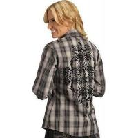 Buy cheap Brooks & Dunn Flocked Plaid Western Shirt from wholesalers